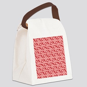 xoxo Red Pink Canvas Lunch Bag