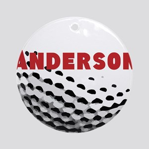 Personalized Golf Round Ornament