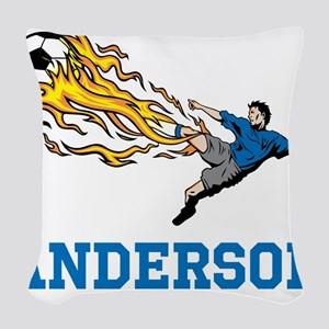 Personalized Soccer Woven Throw Pillow