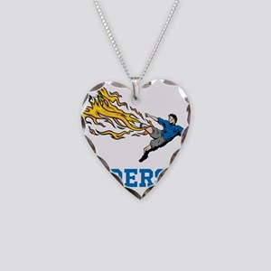 Personalized Soccer Necklace Heart Charm