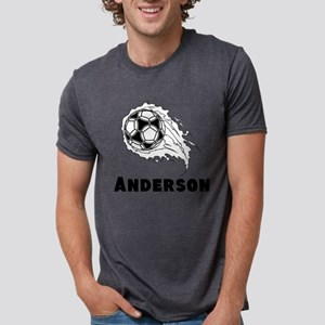 Personalized Soccer Mens Tri-blend T-Shirt