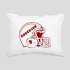 Personalized Football Helmet Rectangular Canvas Pi