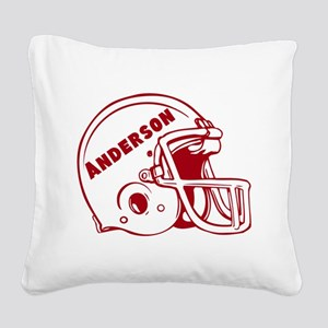 Personalized Football Helmet Square Canvas Pillow