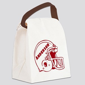 Personalized Football Helmet Canvas Lunch Bag