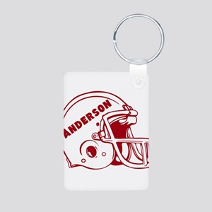 Personalized Football Helmet Aluminum Photo Keycha