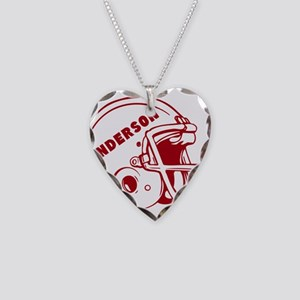 Personalized Football Helmet Necklace Heart Charm