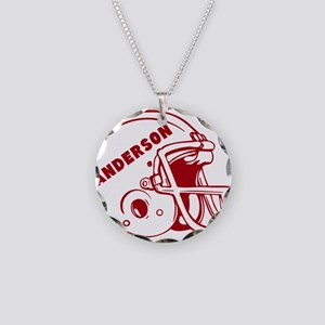 Personalized Football Helmet Necklace Circle Charm