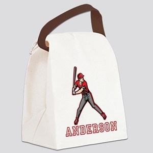 Personalized Baseball Canvas Lunch Bag