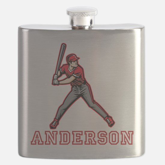 Personalized Baseball Flask
