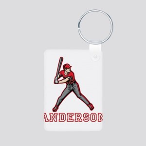 Personalized Baseball Aluminum Photo Keychain