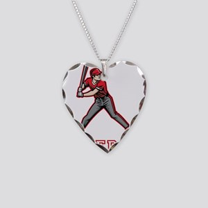 Personalized Baseball Necklace Heart Charm
