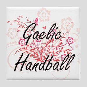 Gaelic Handball Artistic Design with Tile Coaster