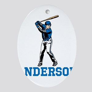 Personalized Baseball Oval Ornament