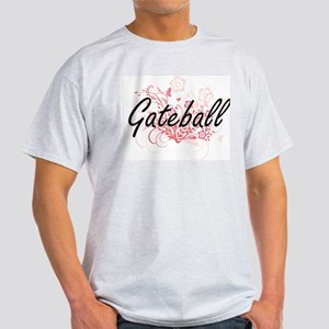 Gateball Artistic Design with Flowers T-Shirt
