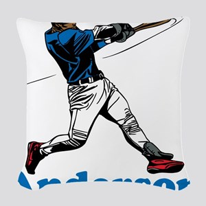 Personalized Baseball Woven Throw Pillow