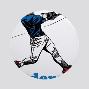 Personalized Baseball Round Ornament