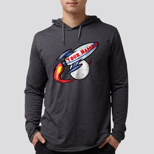 Personalized Rocket Mens Hooded Shirt