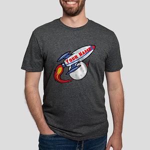 Personalized Rocket Mens Tri-blend T-Shirt