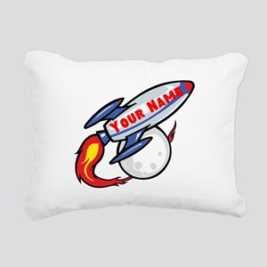 Personalized Rocket Rectangular Canvas Pillow