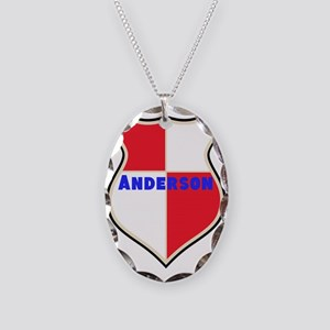 Personalized Sheild Necklace Oval Charm