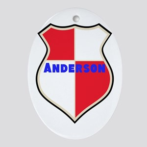 Personalized Sheild Oval Ornament