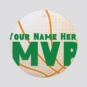 Personalized MVP Basketball Round Ornament