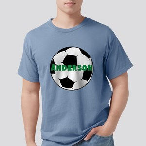 Personalized Soccer Ball Mens Comfort Colors Shirt