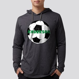 Personalized Soccer Ball Mens Hooded Shirt