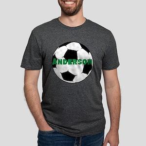 Personalized Soccer Ball Mens Tri-blend T-Shirt