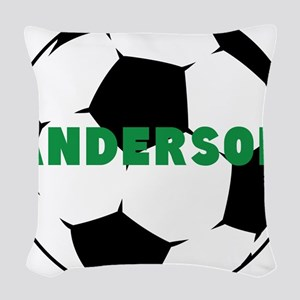 Personalized Soccer Ball Woven Throw Pillow
