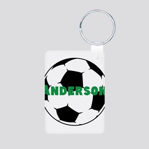 Personalized Soccer Ball Aluminum Photo Keychain