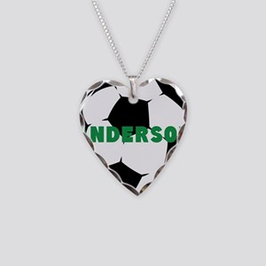 Personalized Soccer Ball Necklace Heart Charm
