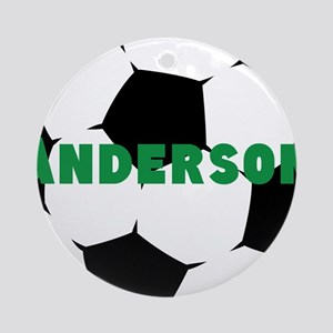 Personalized Soccer Ball Round Ornament