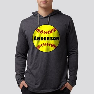 Personalized Softball Mens Hooded Shirt