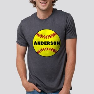 Personalized Softball Mens Tri-blend T-Shirt