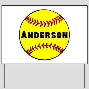 Personalized Softball Yard Sign