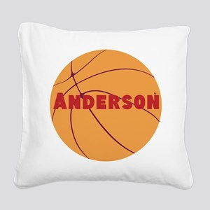 Personalized Basketball Square Canvas Pillow