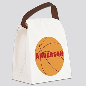 Personalized Basketball Canvas Lunch Bag