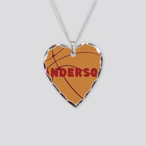 Personalized Basketball Necklace Heart Charm