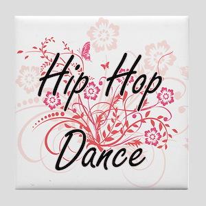 Hip Hop Dance Artistic Design with Fl Tile Coaster
