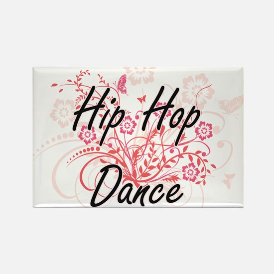 Hip Hop Dance Artistic Design with Flowers Magnets