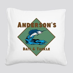 Personalized fishing Square Canvas Pillow
