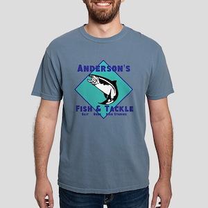 Personalized Fishing Mens Comfort Colors Shirt