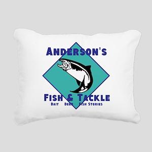 Personalized Fishing Rectangular Canvas Pillow