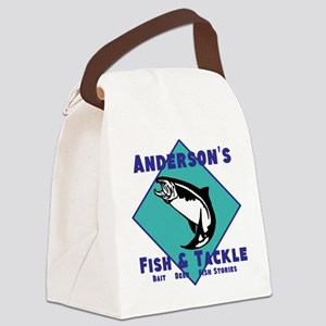 Personalized Fishing Canvas Lunch Bag