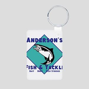 Personalized Fishing Aluminum Photo Keychain
