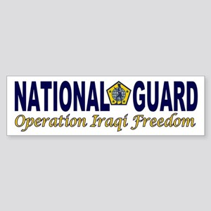 National Guard OIF military support Sticker (Bumpe