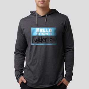 Personalized Name Tag Mens Hooded Shirt