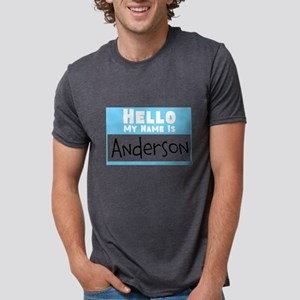 Personalized Name Tag Mens Tri-blend T-Shirt