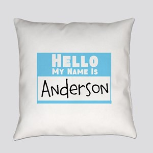 Personalized Name Tag Everyday Pillow
